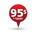 95$ + taxes